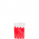 Advent candle, 108/23 , 4 pieces in a bag, red
